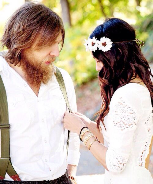 Bryan Danielson (Daniel Bryan) & fiance Briana Garcia (Brie Bella) they're so cute
