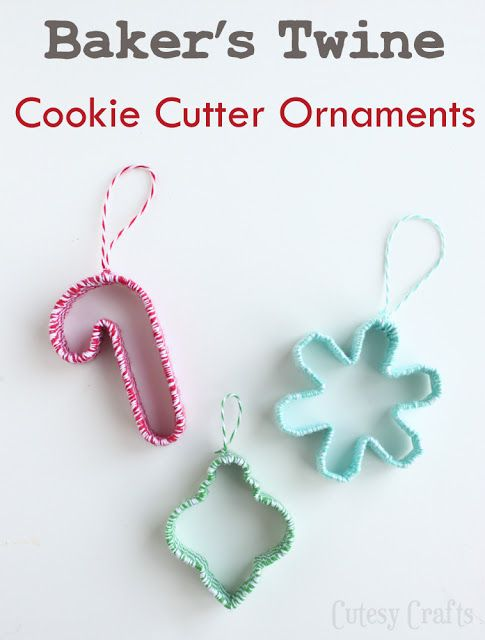 Cookie cutter ornaments. -38 Last-Minute Budget-Friendly DIY Christmas Decorations