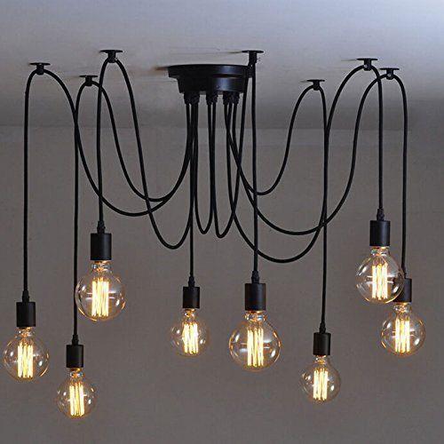 Lemonbest-Vintage-E27-Industrial-Fixture-Retro-Pendant-Light-Ceiling-Lamp-8-Bulb