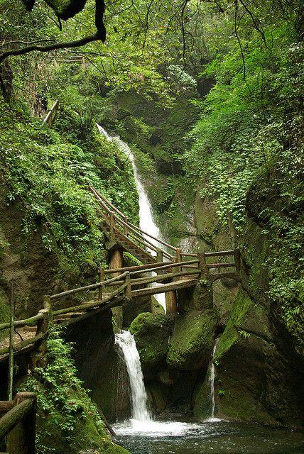 Waterfall Path, Sichuan, China
