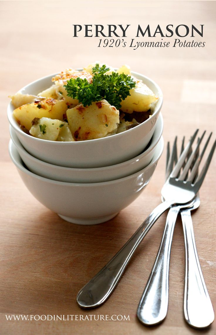 Dig into a bowl of Lyonnaise Potatoes, a recipe served to Perry Mason in one of his novels. A simple four ingredient side dish straight from the 1920's.