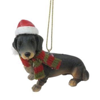 St. Nicholas Square Dachshund Christmas Ornament