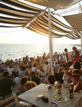 Sunset at Cafe del Mar, Ibiza www.elleuk.com/fashion/news/elle-in-ibiza-2012