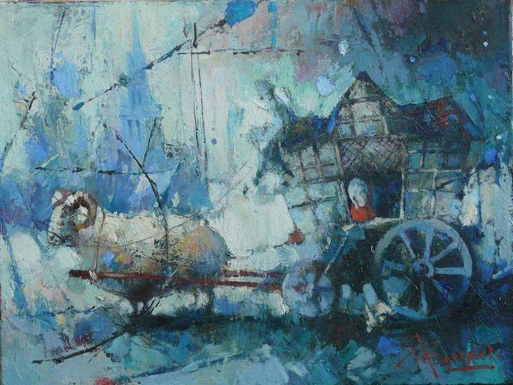 "Waclaw Sporski ""Eurotrip"" 30х40 Oil On Canvas sporskiart.com"