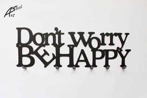 Wieszak na ubrania Don't worry be happy