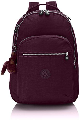 Kipling - Large backpack with laptop protection - CLAS SEOUL - Plum Purple andlt
