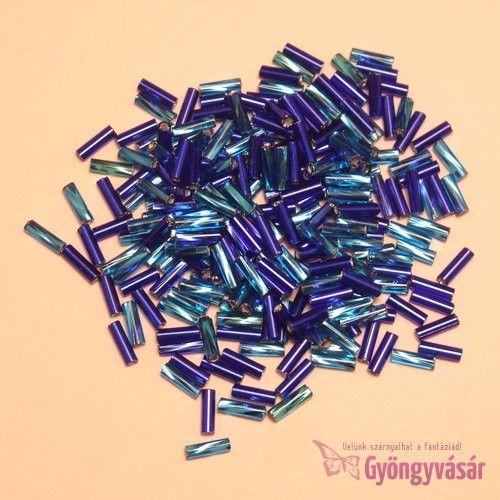 Türkiz-kék, 6 mm-es cseh szalmagyöngy (10 g) • Gyöngyvásár.hu