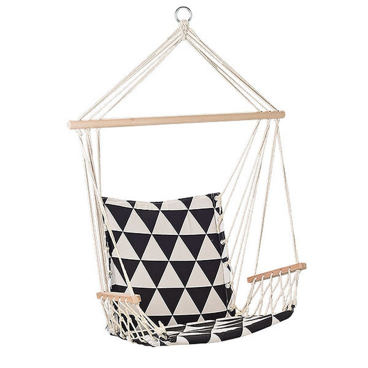 Bloomingville Hammock - Black and Off White Checks