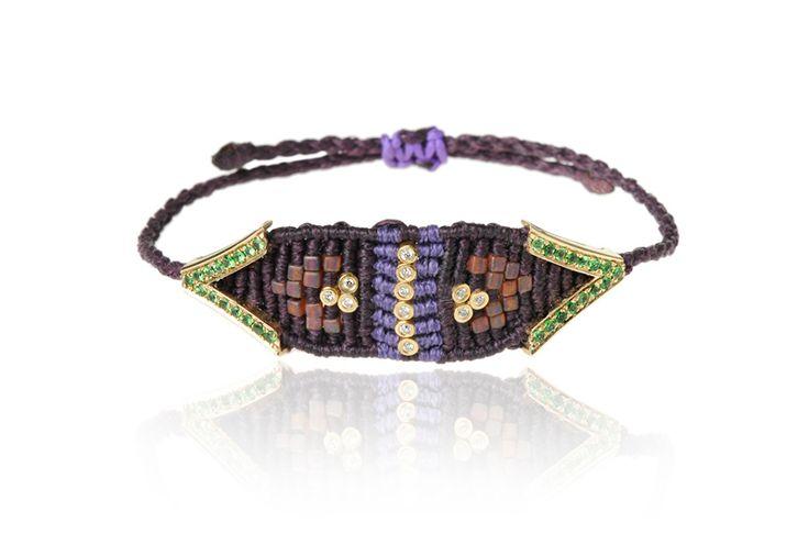 Zoe Kompitsi   Green Tsavorites Bracelet
