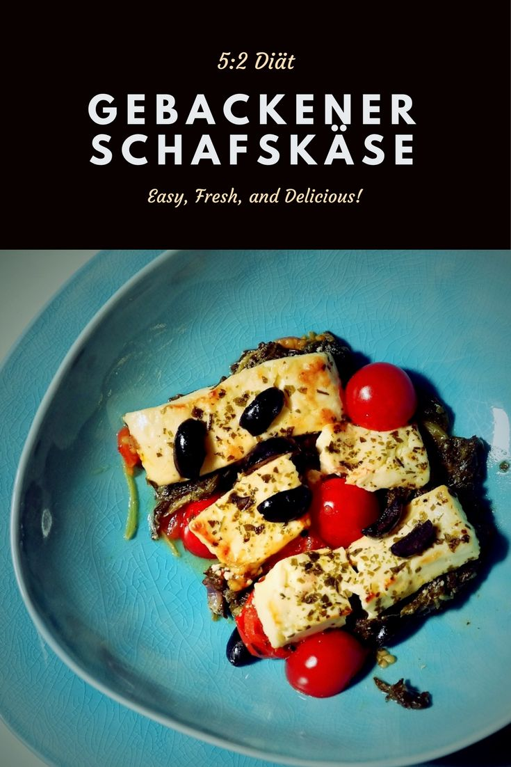 Gebackener Schafskäse in Alufolie auf Tomaten, Spinat, Oliven & Kräutern | 5:2 Diät Rezept | Teilfasten | Intermittierendes Fasten