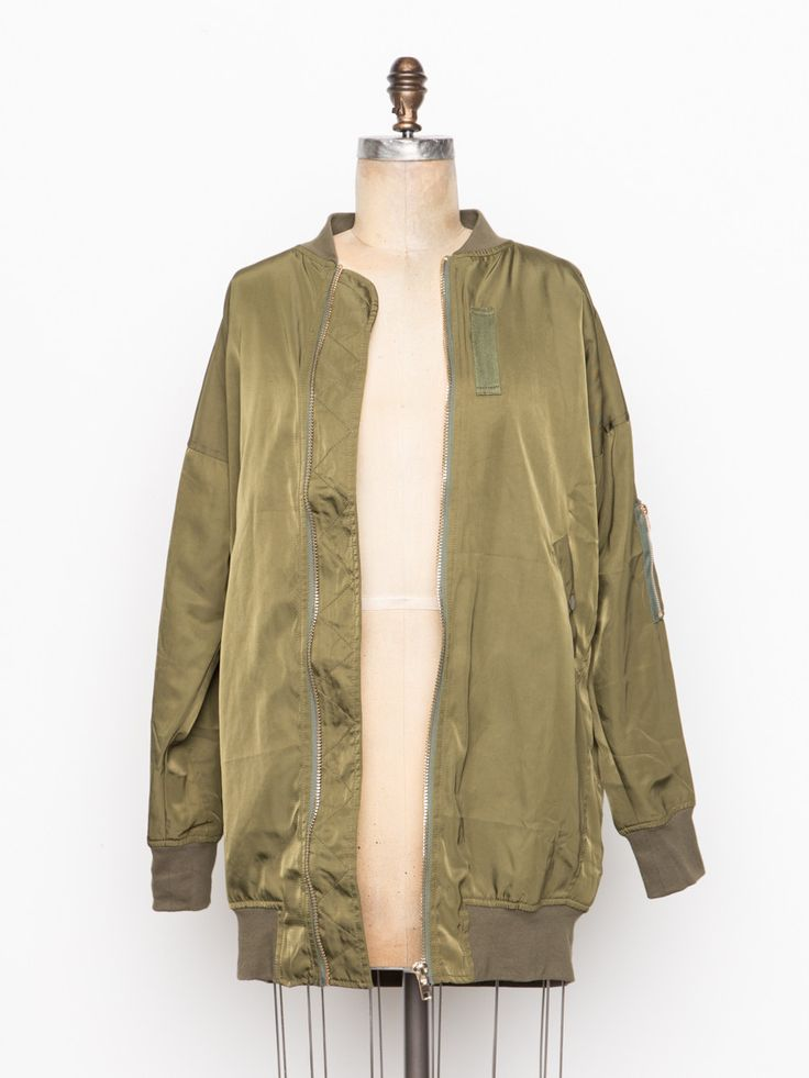 Women's Long Length Bomber Jacket from Irene