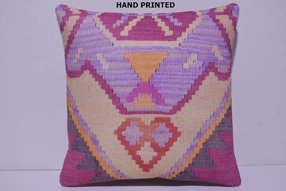 coral decorative pillow kilim throw pillow kilim pillow tribal