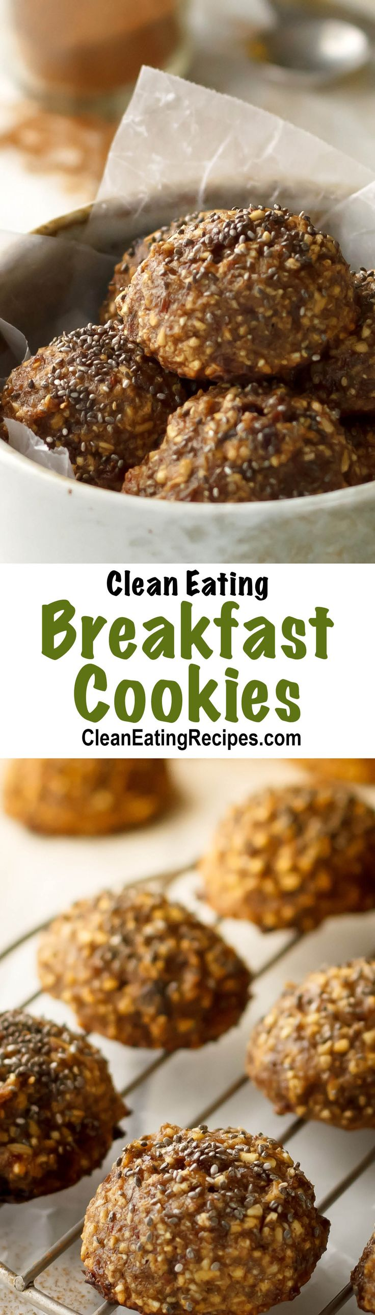 I love making a big batch of these Clean Eating breakfast cookies ahead of time so they are ready for breakfast. I love how quick it is in the morning and they taste good and are healthy too!