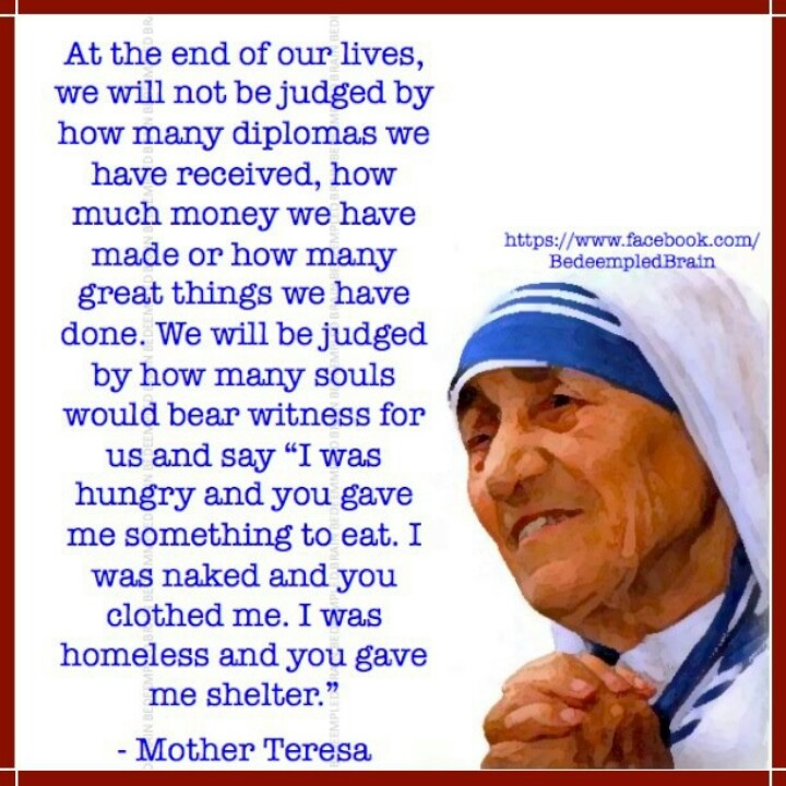 Inspirational Quotes From Mother Teresa