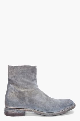 Officine Creative Frost Crosta Suede Boots for men | SSENSE