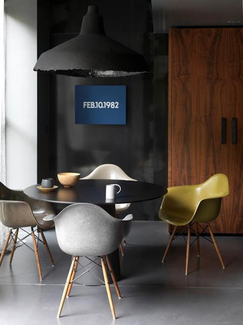 Fiberglass Shell Chairs on Dowel bases | http://modernica.net/dowel-arm-shell.html