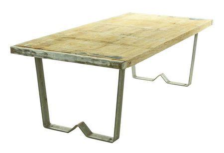 Tough 120  - Soffbord Stål & träskiva från gammal bruk