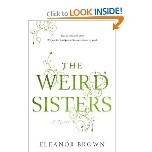 The Weird Sisters (Author, Eleanor Brown)  Three daughter of a Shakespeare professor come back together as adults. Its funny and clever, but also quite powerful.