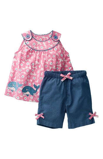 Free shipping and returns on Mini Boden Appliqué Pinafore Top & Pants Set (Infant) at Nordstrom.com. A sweet pinafore is paired to coordinating bow-trimmed pants with a functional drawstring at the elastic waist.