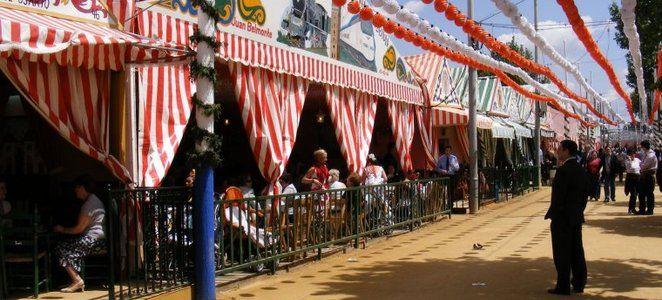 Se conoce como Feria de Abril  al conjunto de casetas y atracciones que se instalan en el recinto ferial del barrio de Los Remedios para la celebración de la fiesta local de Sevilla, en la comunidad autónoma de Andalucía, España.