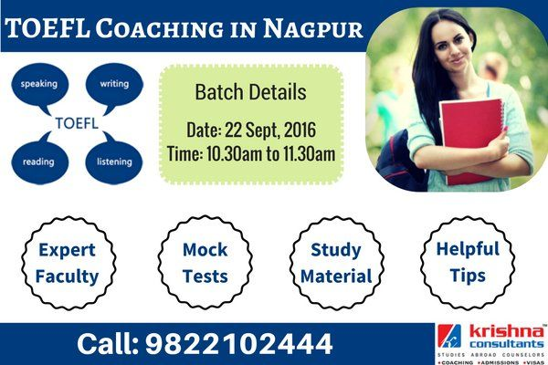 #TOEFL Batch starting on 22nd Sept, 2016 at Krishna Consultants.  For enrollment call: 9822102444 #studyabroad