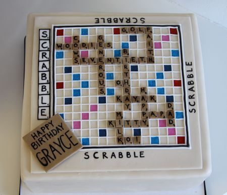birthday cake scrabble | Dying for Chocolate: Scrabble Cakes: National Scrabble Day