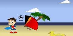 Plajda Frizbi Fırlat