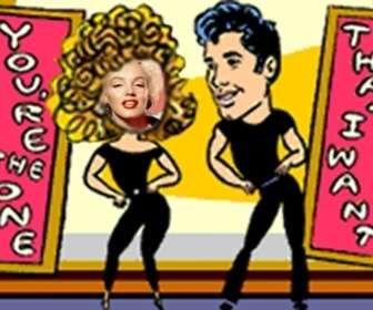 Ejemplo: Foto montaje animado Baile de Grease, personaliza el efecto con tu propia foto.
