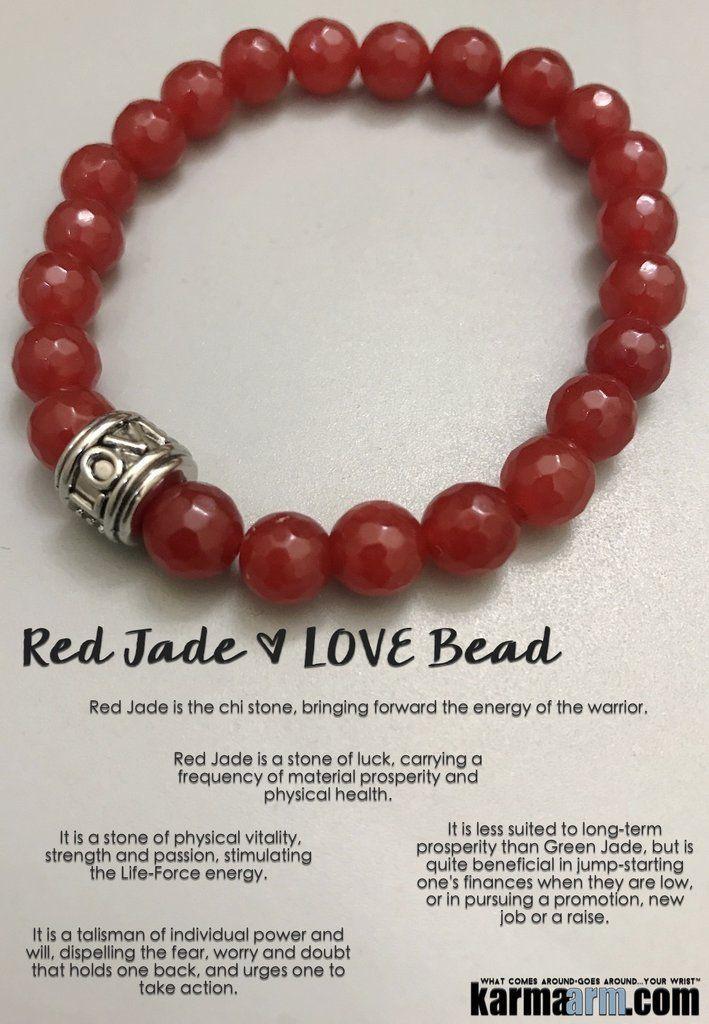 Yoga Bracelets. LOVE Bead Stretch Chakra Beaded Jewelry. #Red #Jade.                   ♛ #BEADED #Yoga #BRACELETS #Buddha #Om #Chakra #gifts #Macrame #Stretch #Womens #jewelry #Tony #Robbins #Eckhart #Tolle #Crystals #Energy #gifts #Handmade #Healing #Ku http://kundaliniyogameditation.com/