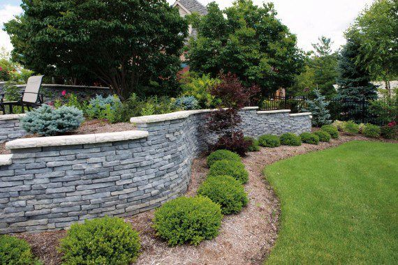 Unilock - Garden wall with Rivercrest Wall in Chicago