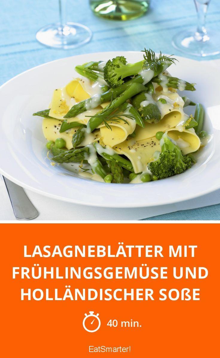 Lasagneblätter mit Frühlingsgemüse und holländischer Soße - smarter - Zeit: 40 Min. | eatsmarter.de