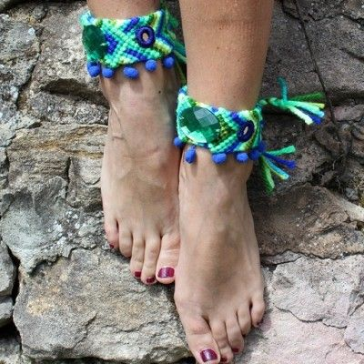 Pulsera de tobillo, ideales para llevar descalza o con sandalias planas.