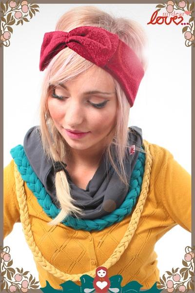 "mydearlove Headband,Strick Haarband ""Trine"" - Bordeaux"