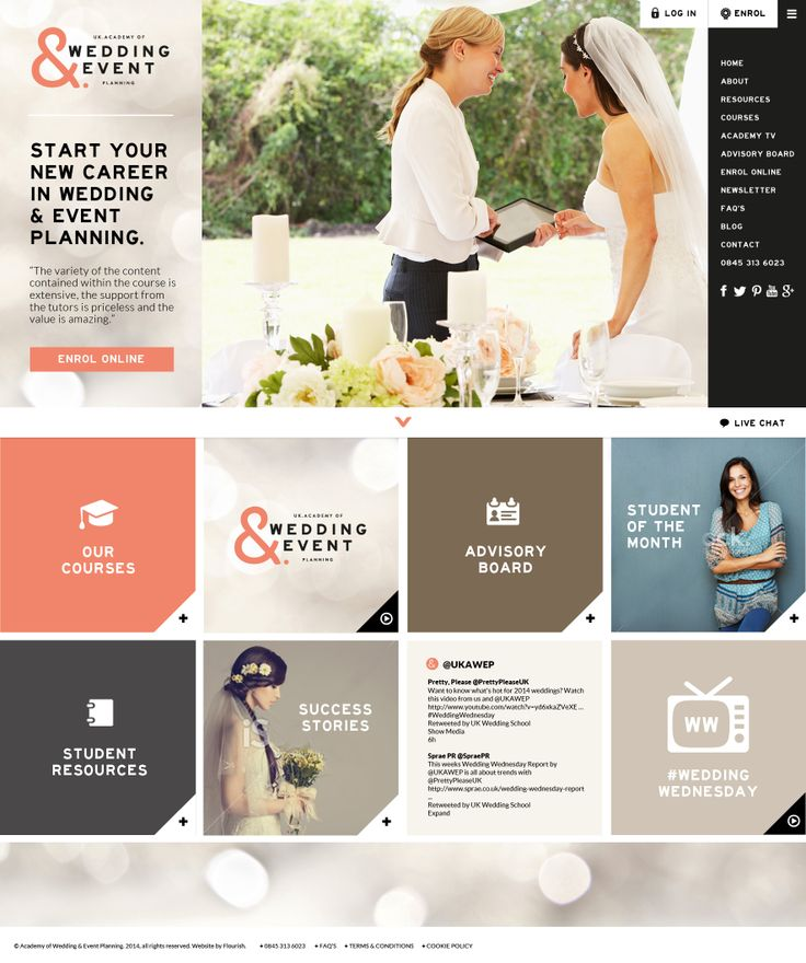 http://www.weddingplanningacademy.co.uk We are so excited to share our new look Home Page going live on April 21st.