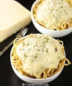 Creamy Alfredo Sauce.I made it 2/22/14. I'll never go back to jarred! I used about 1 TB of fresh parsley and added a pinch of nutmeg, other than that, I followed this recipe to a T! Great recipe! All those off-tastes are gone. :) I doubt that I'll ever go back to jarred Alfredo. This is too delish and really easy