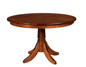 Amish Crafted Single Pedestal Table Available With Up To Three Leaves In Either 42