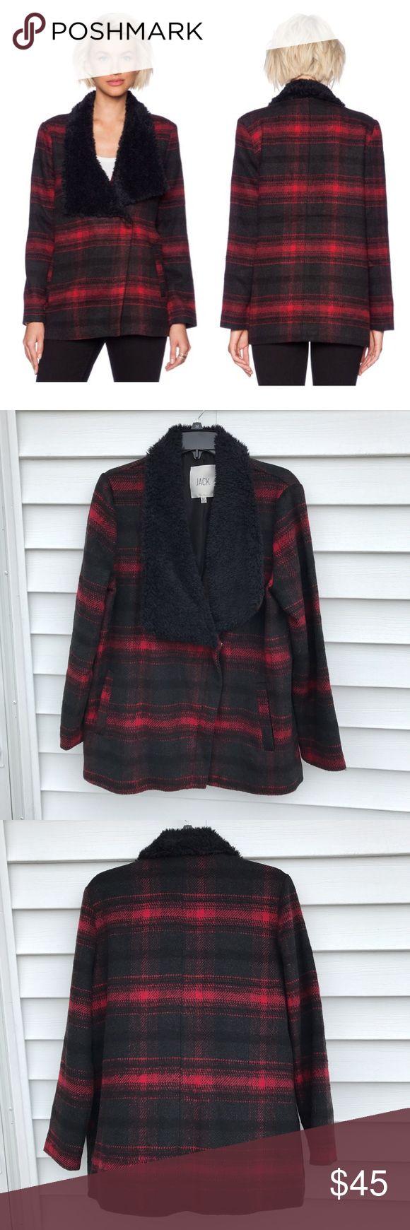 BB Dakota rydell plaid Moto style jacket Never worn• size Medium• NO trades BB Dakota Jackets & Coats