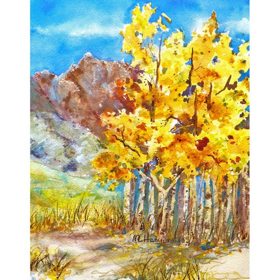 27 Best Birch Tree Paintings Images On Pinterest
