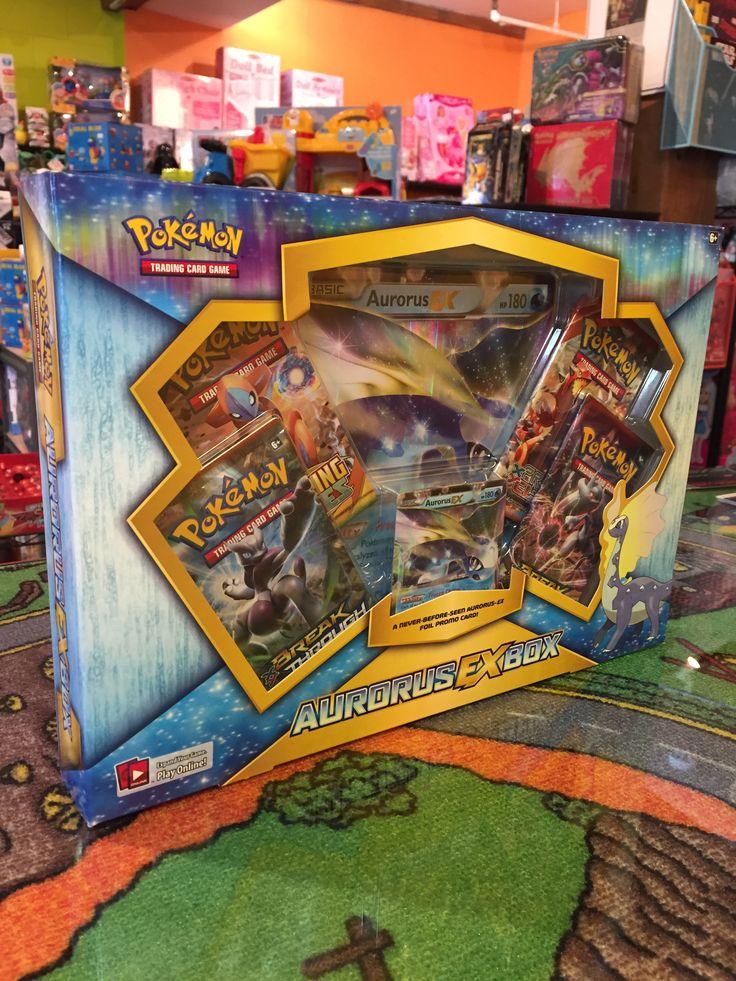 Pokemon, Boîte Aurorus Ex Box incluant une carte jamais vue nouveauté 39.99$. Disponible dans la boutique St-Sauveur (Laurentides) Boîte à Surprises, ou en ligne sur www.laboiteasurprises.ca ... sur notre catalogue de jouets en ligne, Livraison possible dans tout le Québec($) 450-240-0007 info@laboiteasurprisesdenicolas.ca