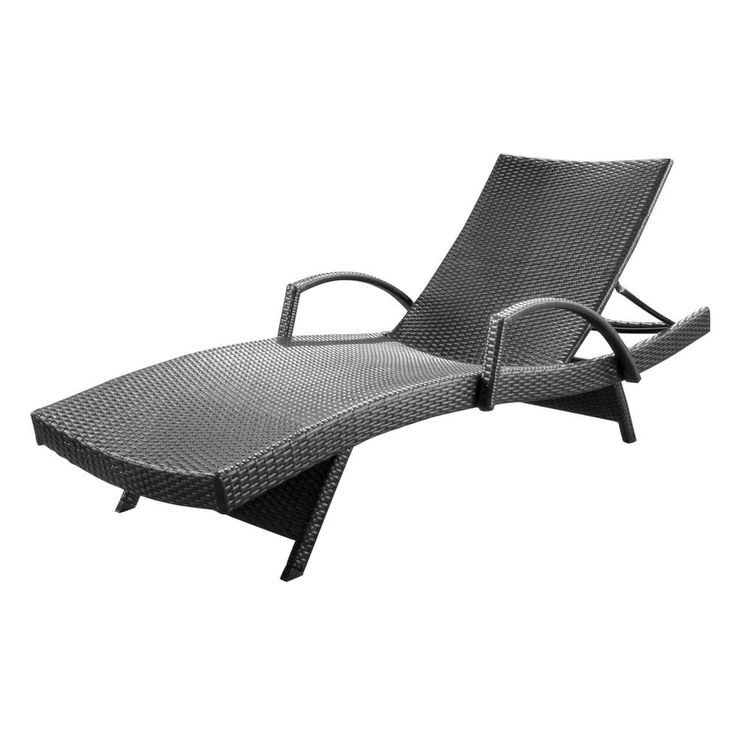 Noble house miller grey 1piece wicker outdoor chaise