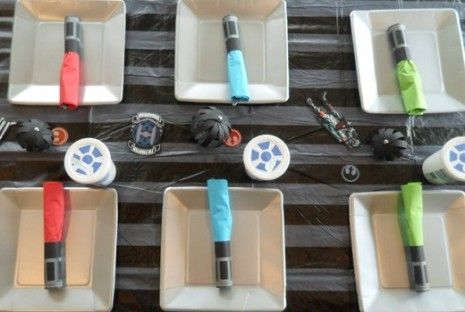 light saber napkin rings