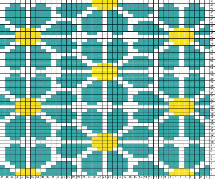 Tricksy Knitter Charts: daisy repeat ( knit )