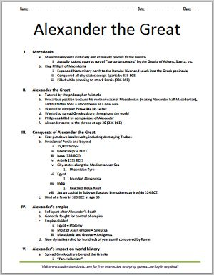 Alexander the great research paper