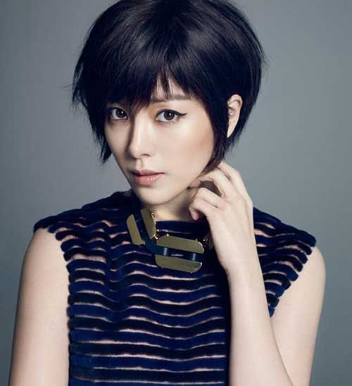 15.Cute Asian Pixie Cut