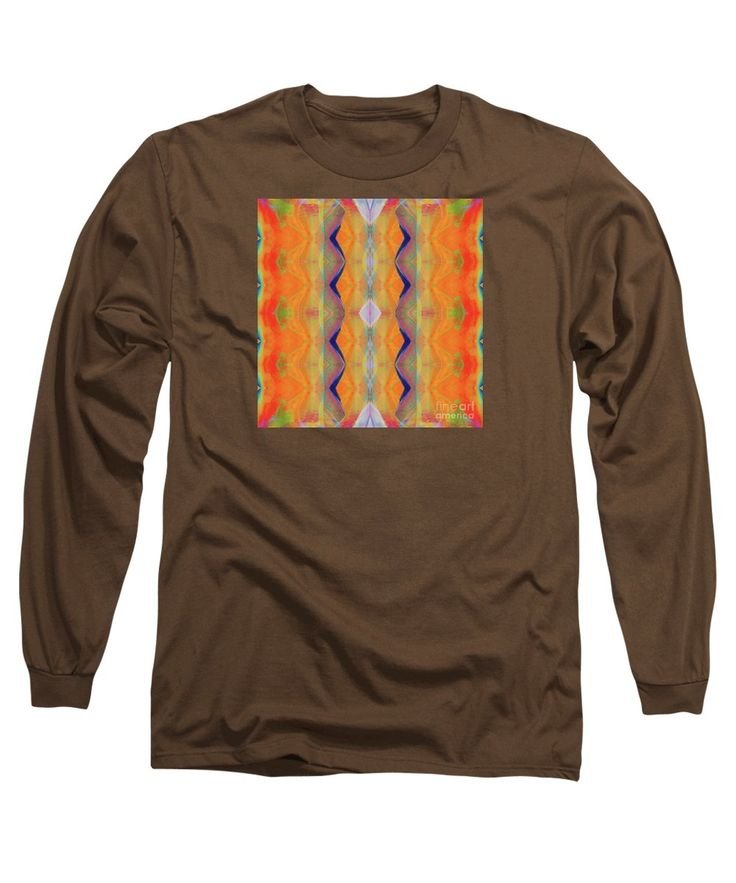 Bright Colorful Vibrant Mirror Pattern Long Sleeve T-Shirt featuring the painting H.p.mirror Print by Expressionistart studio Priscilla Batzell