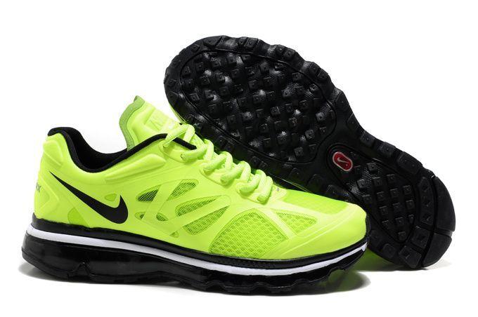 Men Nike Air Max Neon Green/Black