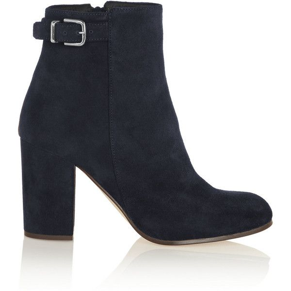 J.Crew Barrett buckled suede ankle boots found on Polyvore