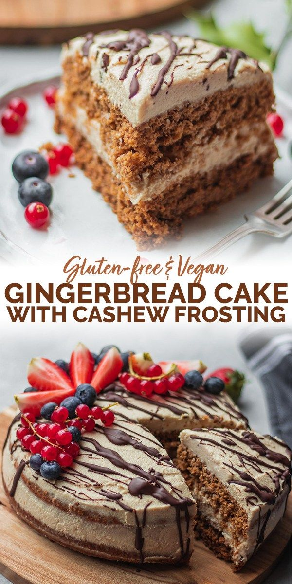 Vegan Gingerbread Cake With Coconut Frosting Gluten Free