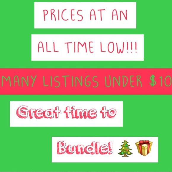 Most listings are under $10!  My prices have never been lower! Most things are under $5-$10 and I may even accept lower offers!  Perfect opportunity to bundle for yourself or as gifts. Always next day shipping. no trades at this time. Happy holidays!  J. Crew Sweaters Crew & Scoop Necks