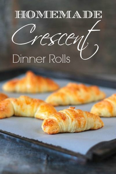 These crescent rolls are sweet, light, buttery and fluffy. The dough is made the night before, refrigerated, and baked the next day. Bakerette.com
